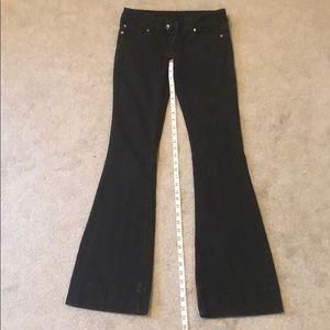 Flare black jeans, Sz 5 Long